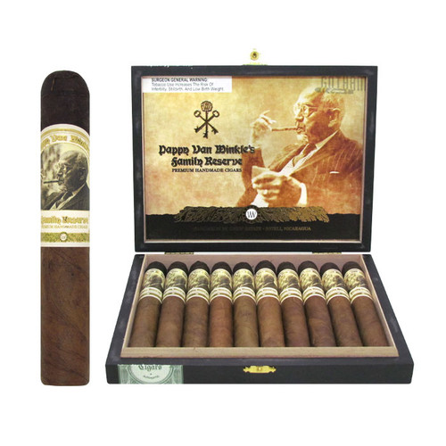 Pappy Van Winkle Family Reserve Barrel Fermented Robusto open box and stick