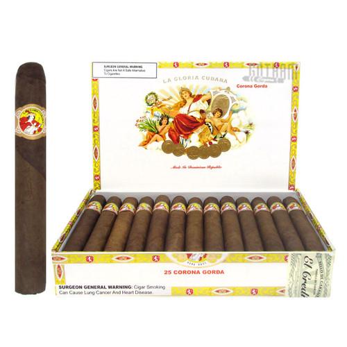 La Gloria Cubana Corona Gorda Natural open box and stick