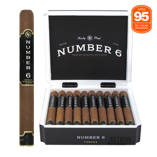 Rocky Patel Number 6 Corona Open box and stick