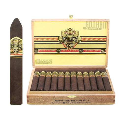 Ashton VSG Belicoso No. 1 Open Box and Stick