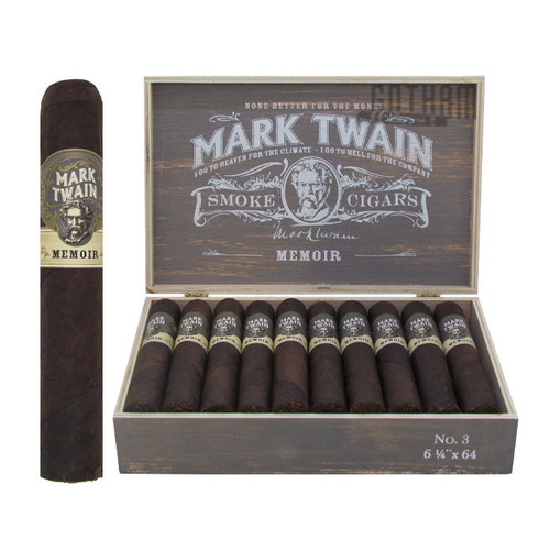 Mark Twain Memoir No. 3 open box and stick