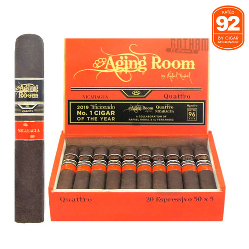 Aging Room Quattro Nicaraguan Espressivo open box and stick