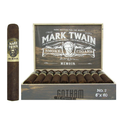 Mark Twain Memoir No. 2 open box and stick