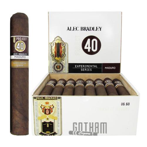 Alec Bradley Project 40 Gordo Maduro open box and stick