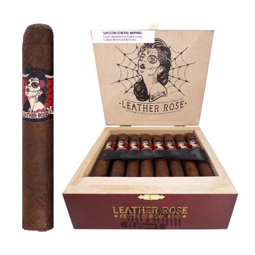 Deadwood Leather Rose Petite Corona open box and stick