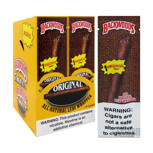 Backwoods Original Wild N' Mild Singles Box and Foil Pack