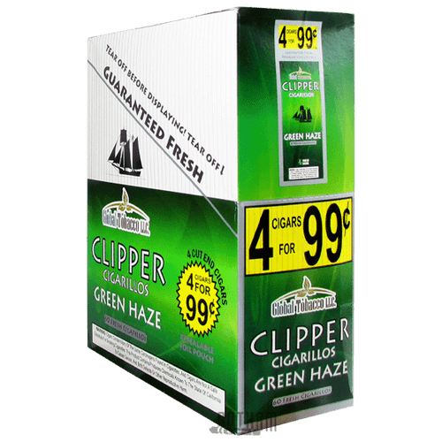 Clipper Cigarillos Green Haze Box