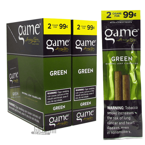 Game Cigarillos Green Box and Pack