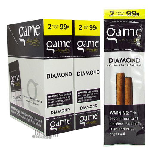 Game Cigarillos Silver Box and Pack