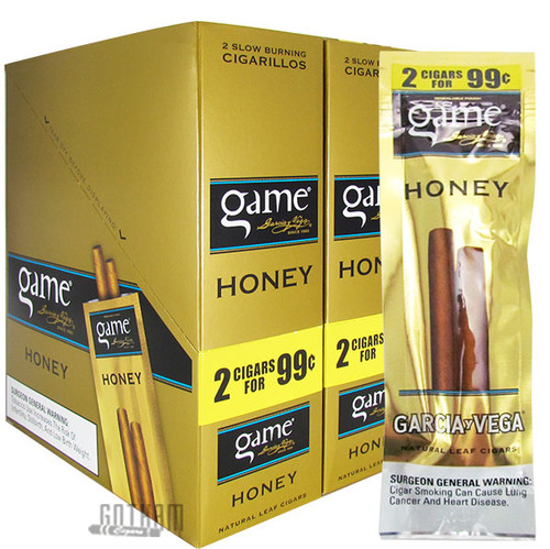 Game Cigarillos Honey carton and pack