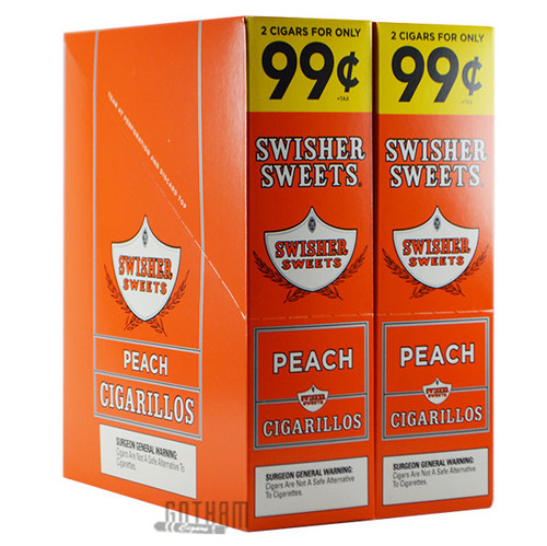 Swisher Sweets Cigarillos Peach foilpack