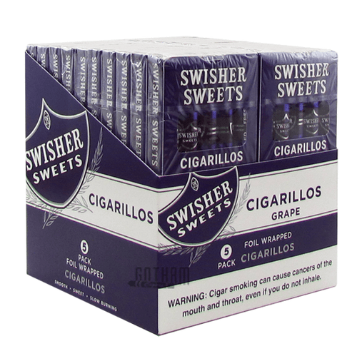 Swisher Sweets Cigarillos Grape 5 Pack Box