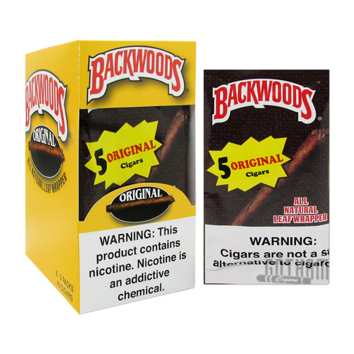 Backwoods Cigars Original Wild N' Mild Box and Foil Pack
