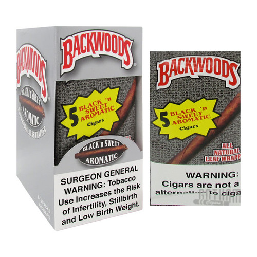 Backwoods Cigars Black N' Sweet Box and Foil Pack