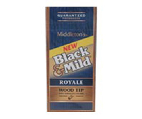Black And Mild Wood Tip Royale Upright