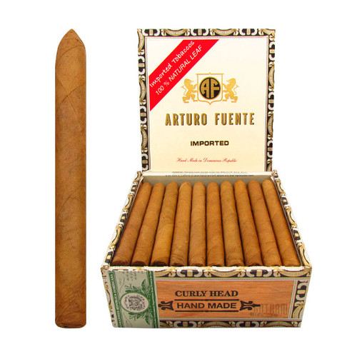 Arturo Fuente Curly Head Natural Lonsdale Open Box and Stick