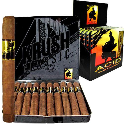 Acid Krush Gold Sumatra Tin pack, box & stick