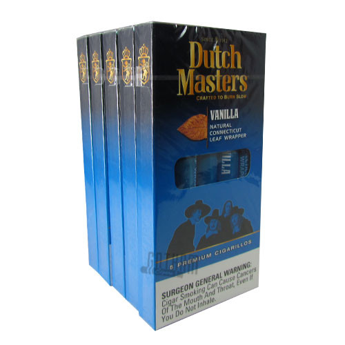 Dutch Masters Cigarillos Vanilla (blue) Packs