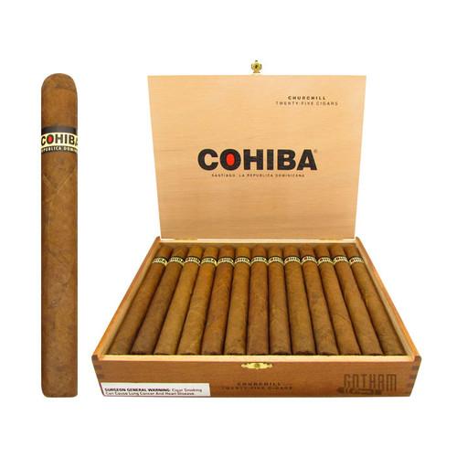 Cohiba Churchill Open Box and Stick