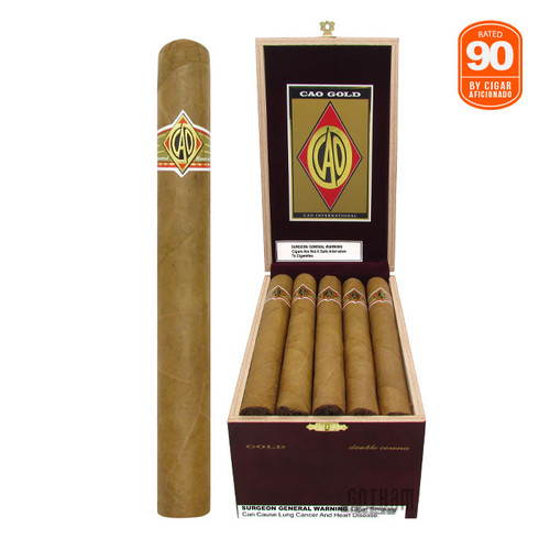 CAO Gold Double Corona Open Box and Stick