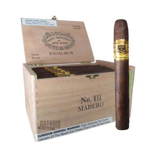 Hoyo de Monterrey Excalibur No. III Maduro Box & Stick