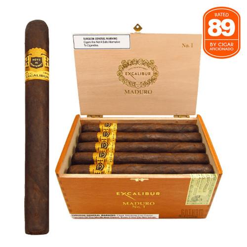 Hoyo de Monterrey Excalibur No. I Maduro open box and stick