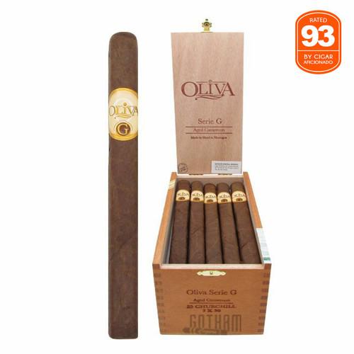 Oliva Serie G Churchill Open Box and Stick