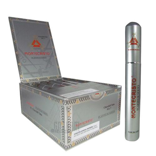Montecristo Platinum Tubes Churchill Box & Stick