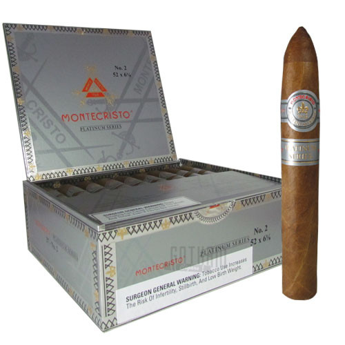 Montecristo Platinum No. 2 (Belicoso) Box & Stick