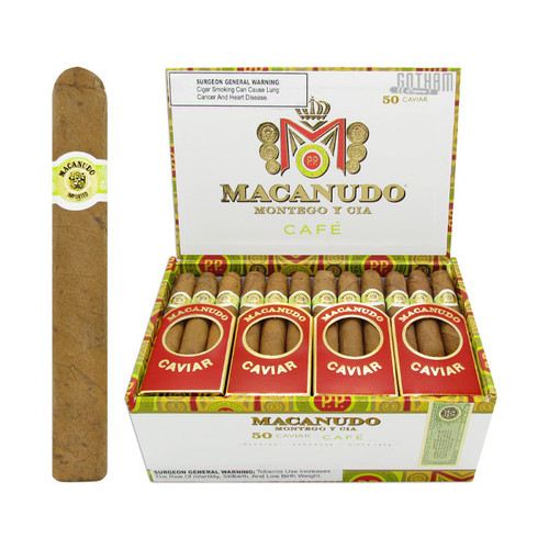 Macanudo Caviar Open Box and Stick