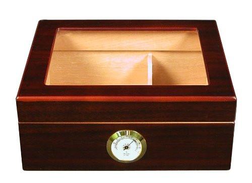 The Capri Glasstop Cigar Humidor Box