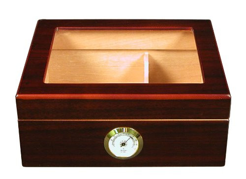 The Capri Glasstop Cigar Humidor Box