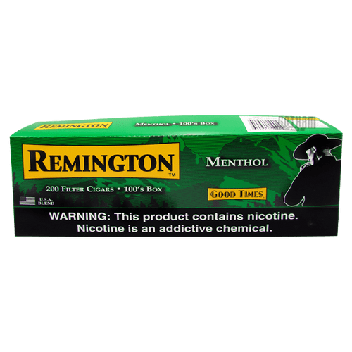 Remington Filtered Cigars Menthol Box