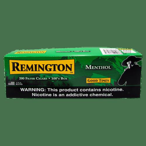 Remington Filtered Cigars Menthol Box