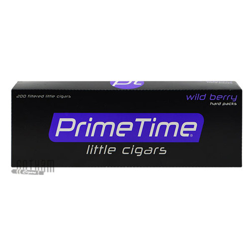 Prime Time Little Cigars Wild Berry carton & Pack