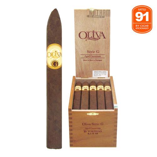 Oliva Serie G Torpedo Open box and stick