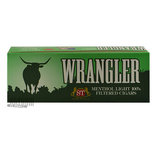 Wrangler Filtered Cigars Menthol Light carton
