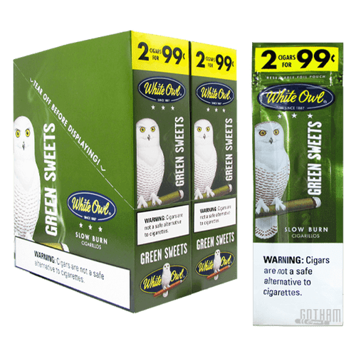 White Owl Cigarillos Green Sweets
