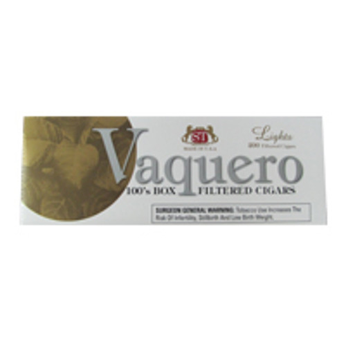 Vaquero Filtered Cigars Light carton