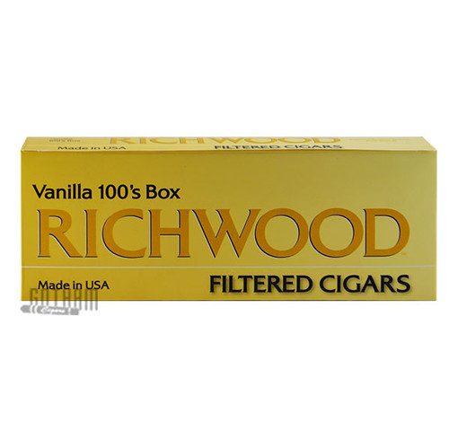 Richwood Filtered Cigars Vanilla 100 carton