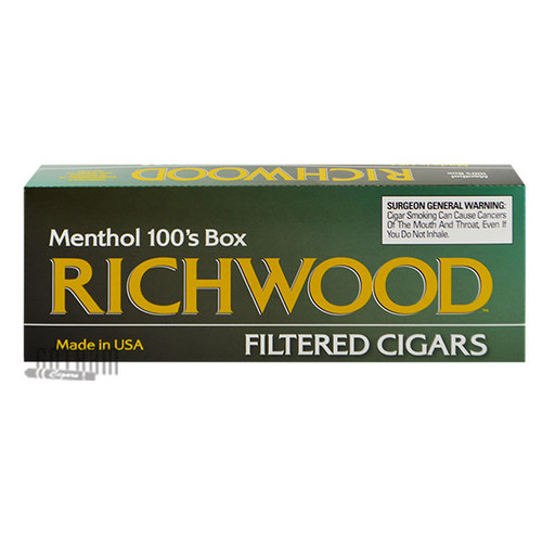 Richwood Filtered Cigars Menthol 100 carton