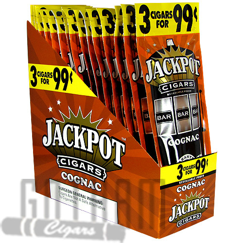 Jackpot Cigarillos Cognac upright & foilpack