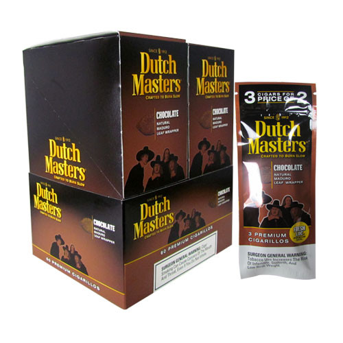 Dutch Masters Cigarillos Chocolate Buy 2 get 3 upright & foilpack