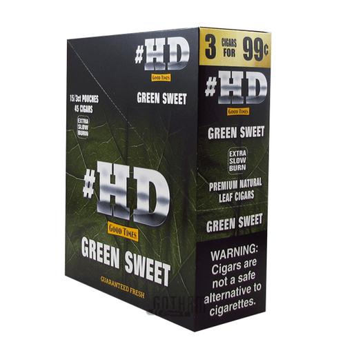 Good Times Cigarillos #HD Green Sweet Box