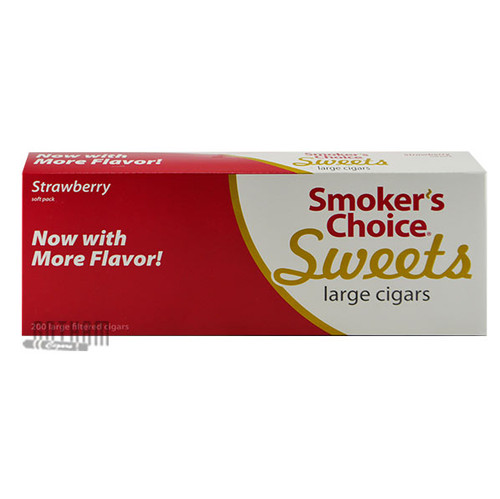 Smoker's Choice Sweets Large Cigars Strawberry
