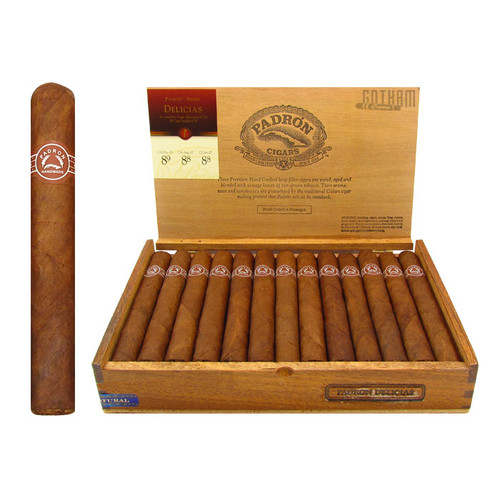 Padron Delicias Natural Open Box and Stick