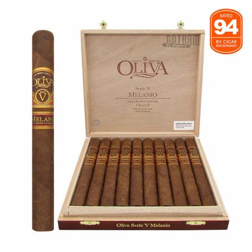Oliva Serie V Melanio Churchill Open Box and Stick