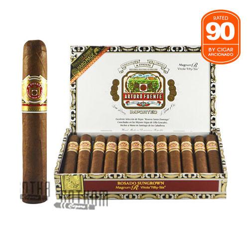 Arturo Fuente Rosado Sungrown Magnum R 56 open box and stick
