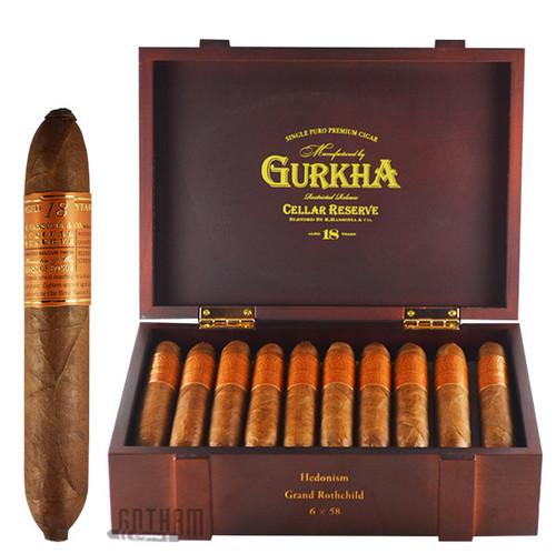 Gurkha Cellar Reserve 18 Year Edicion Especial Hedonism box & stick