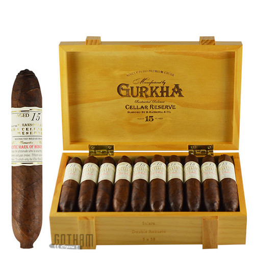 Gurkha Cellar Reserve Solara Open Box and Stick